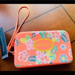 Tropical Rubber Gel Coral Wristlet